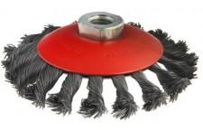 Кордщетка для дрели d=115 мм для УШМ 207-112 М14 радиальная витая жесткая усиленная