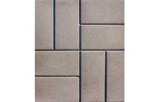 Плитка тротуарная 8-кирпичей 400х400х50 мм серая