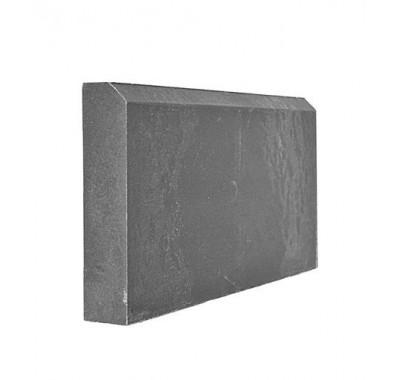 Бордюр полимерно-песчаный 500х250х55 мм серый