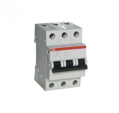 Автомат 3P,6А, тип С, 4.5кА, ABB, SH203L