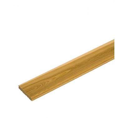 Вагонка Штиль лиственница сорт АВ 16х97х3000 мм (S общ.= 2.328 кв.м S раб.= 2.16 кв.м)