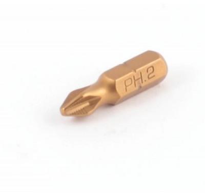 Бита с титановым покрытием Jettools PH2 25 мм (10 шт)