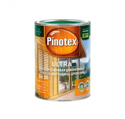 Антисептик Pinotex Ultra красное дерево-махагон 1 л