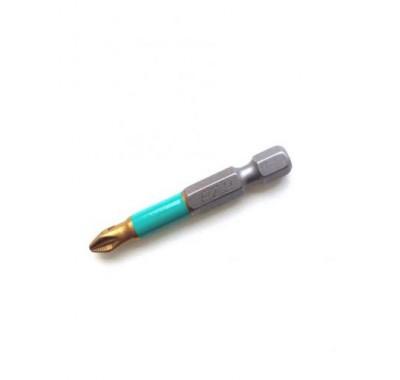 Бита с титановым покрытием Jettools Профи PZ2 50 мм (1 шт)