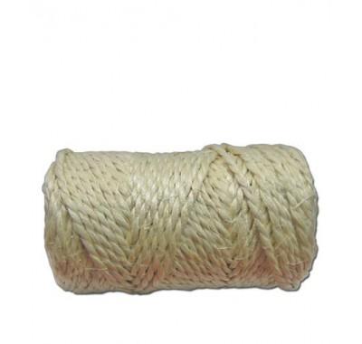 Веревка сизалевая крученаяd4 мм (25 м)